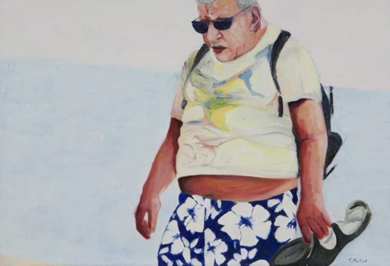 Beachcomber 2, oil on canvas, 17 x 25 inches